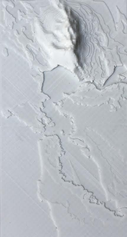 terremoti stampati in 3D DOUG McCUNE Code, Art, and Maps