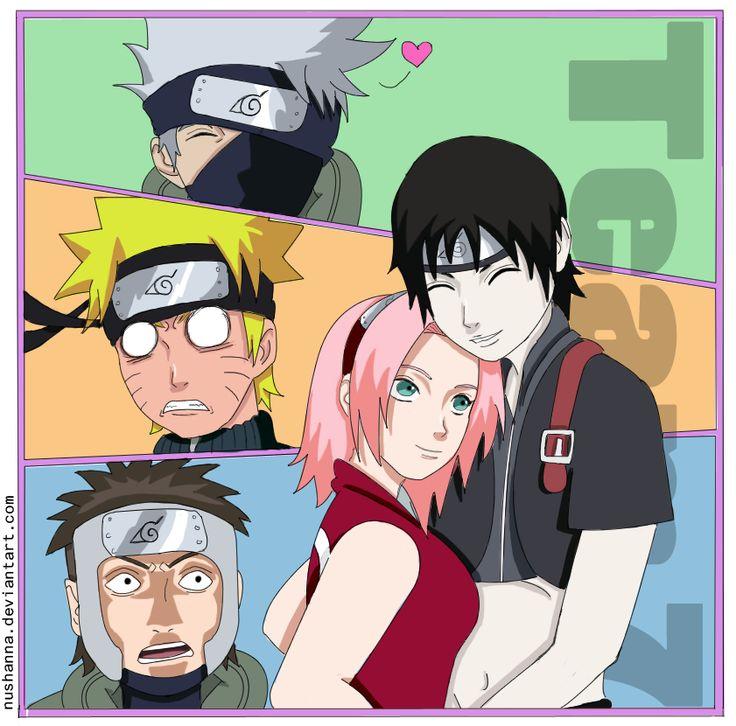 Kakashi, Naruto, Yamato, Sakura and Sai | naruto and ...