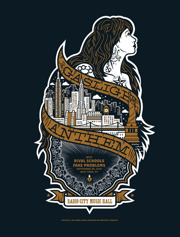 """At the bottom of this river, Is where I put you down to lay so I can live with it..."" (Gaslight Anthem Poster)"