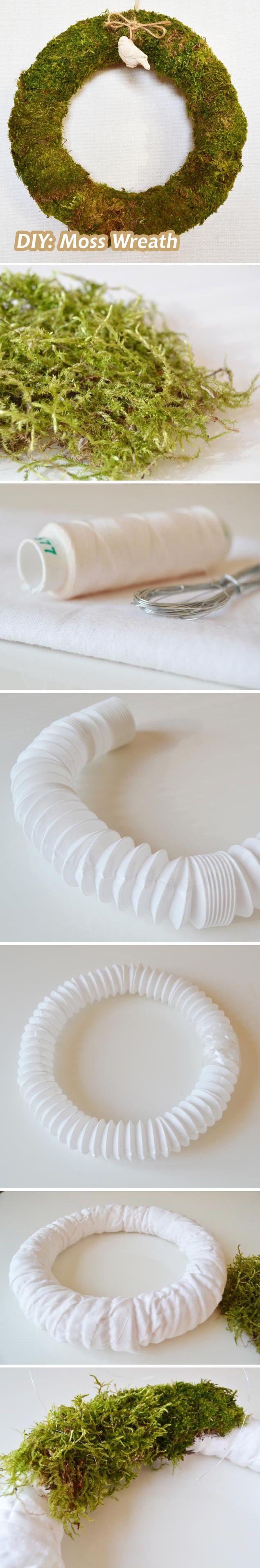 DIY: Moss Wreath   Делаем венок из мха: http://www.livemaster.ru/topic/706515