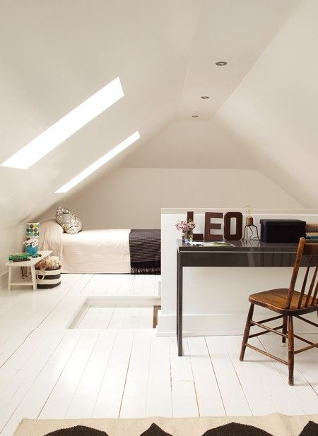 Not sure about white floor board - however, I defiantly think that white is the colour to paint the loft.