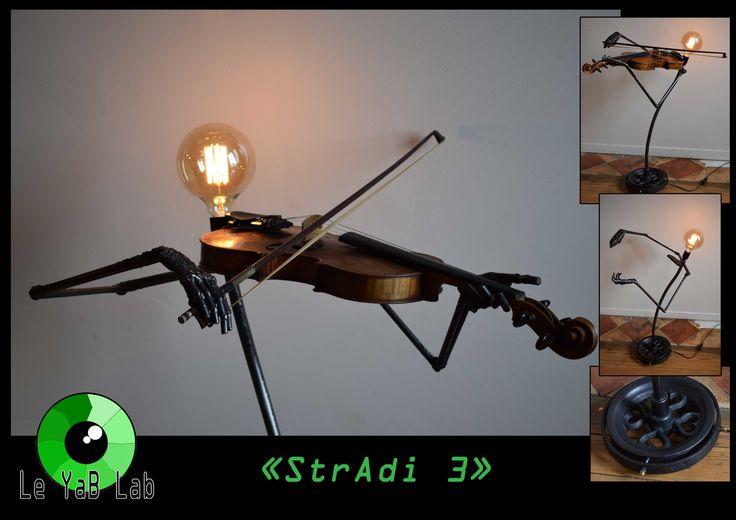 "Sculpture lumineuse ""StrAdi 3"" Upcycling"
