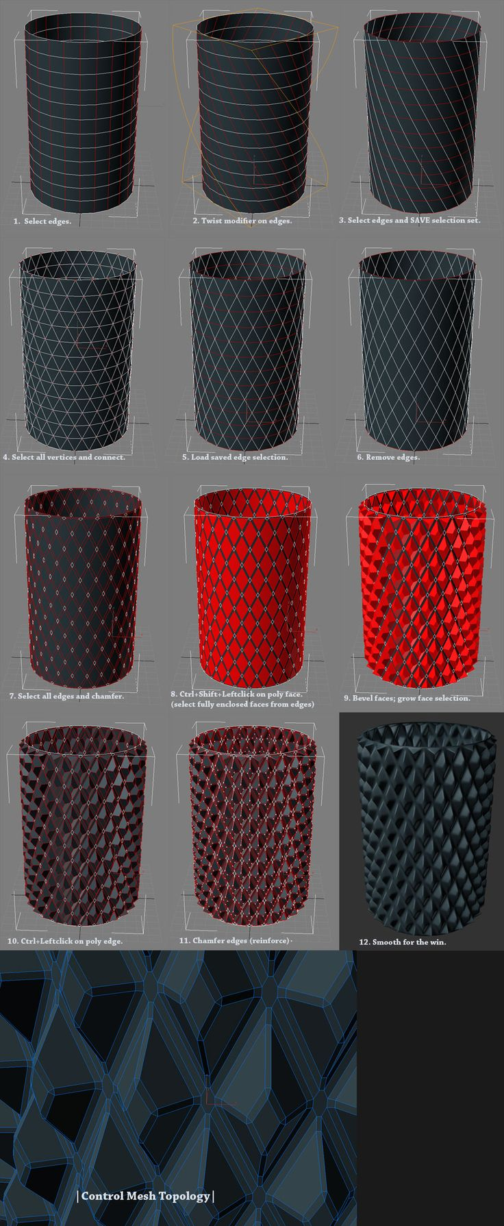 Mesh topology, mini-lessons - Computer graphics and animation - Render.ru