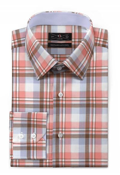 Pink checked 100% cotton Shirt: http://www.tailor4less.com/en-us/men/shirts/3126-pink-checked-100-cotton-shirt
