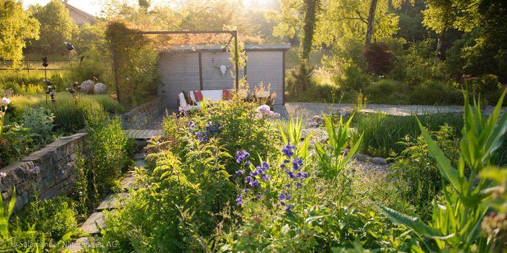 #Sichtschutzwand #Garten: gemütliche Privatsphäre innerhalb des #Naturgartens / #fences #naturalgarden #garden