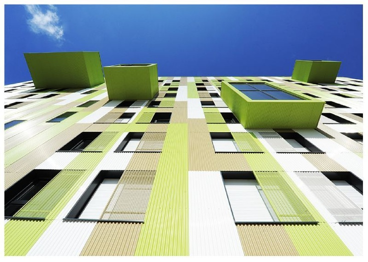 Résidence universitaire « Le Languedoc » (label BBC-Effinergie), située avenue du Languedoc à Rennes, dans le quartier Villejean.