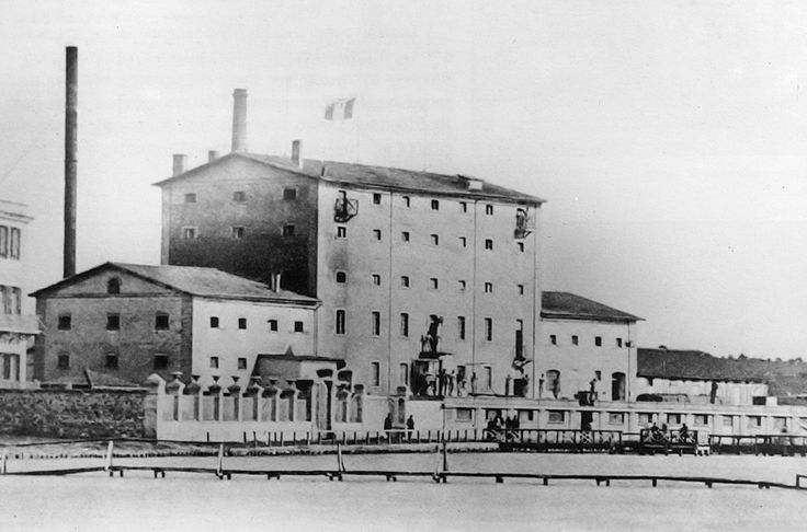 Allatini , the first steam mill, Tessaloniki 1889   - Ο πρώτος ατμόμυλος Αλλατίνι το 1889