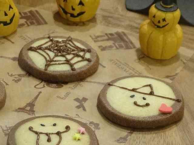ハロウィンおばけのアイスボックスクッキーの画像