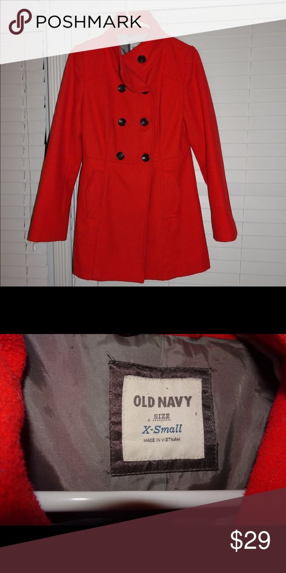 Red Old Navy Trench Coat Add a pop of color to your outfit with this adorable red coat. Great condition! Old Navy Jackets & Coats Trench Coats