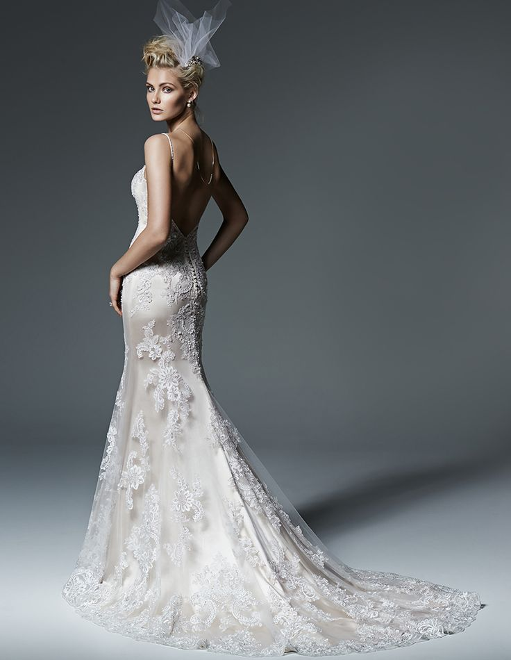 Wedding Dresses Perfect for Tall/Athletic Body Types  Maggie Sottero, style Celine, $1,739 at Louis Marie Bridal, Middletown, Del., louismariebridal.com