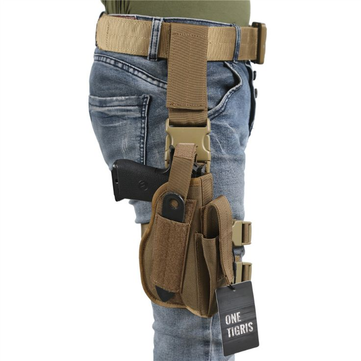 OneTigris Tactical Molle Drop Leg Thigh Handgun Pistol Holster Airsoft Paintball Right Handed Holster For 1911 USP 92 96 Glock