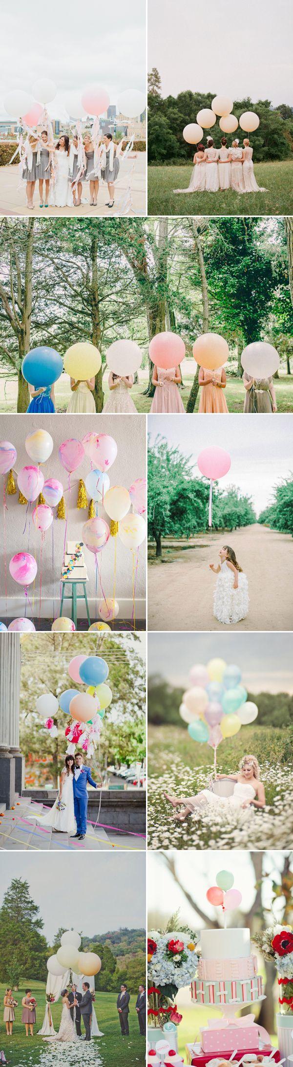 Roze ballonnen. En dan vooral van die hele grote. Goedkope versiering: ballonnen - Girls of honour