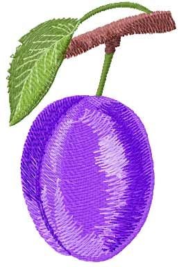 Plum Free Embroidery Design Fruits And Vegetables Embroidery