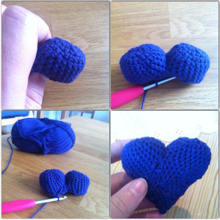Hæklet hjerte :)