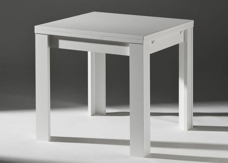 Esstisch Ausziehbar Zip 80 Esszimmertisch Quadratisch 80x80 Weiss