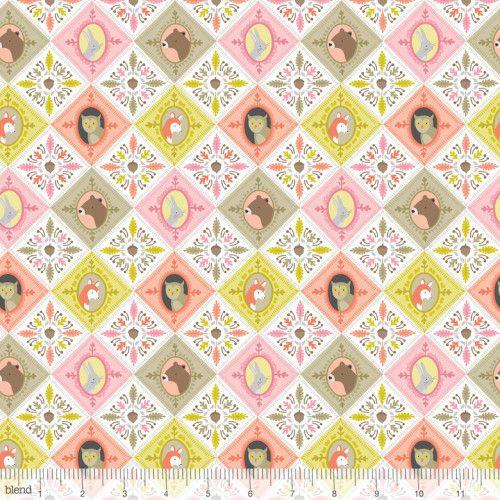113.108.01.1 Born Wild Patchwork Pink by designer Ana Davis