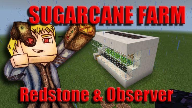 Minecraft Sugarcane Farm Redstone Tutorial - (Observer Block) - (Nvidia ...