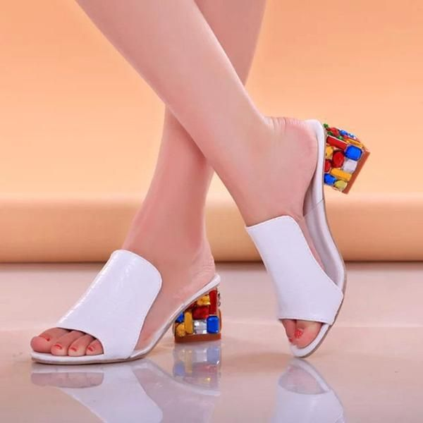 4ae40f715  FASHION  NEW Women Sandals 2018 Ladies Summer Slippers Shoes Women high  Heels Sandals Fashion Rhinestone summer shoes new 818W
