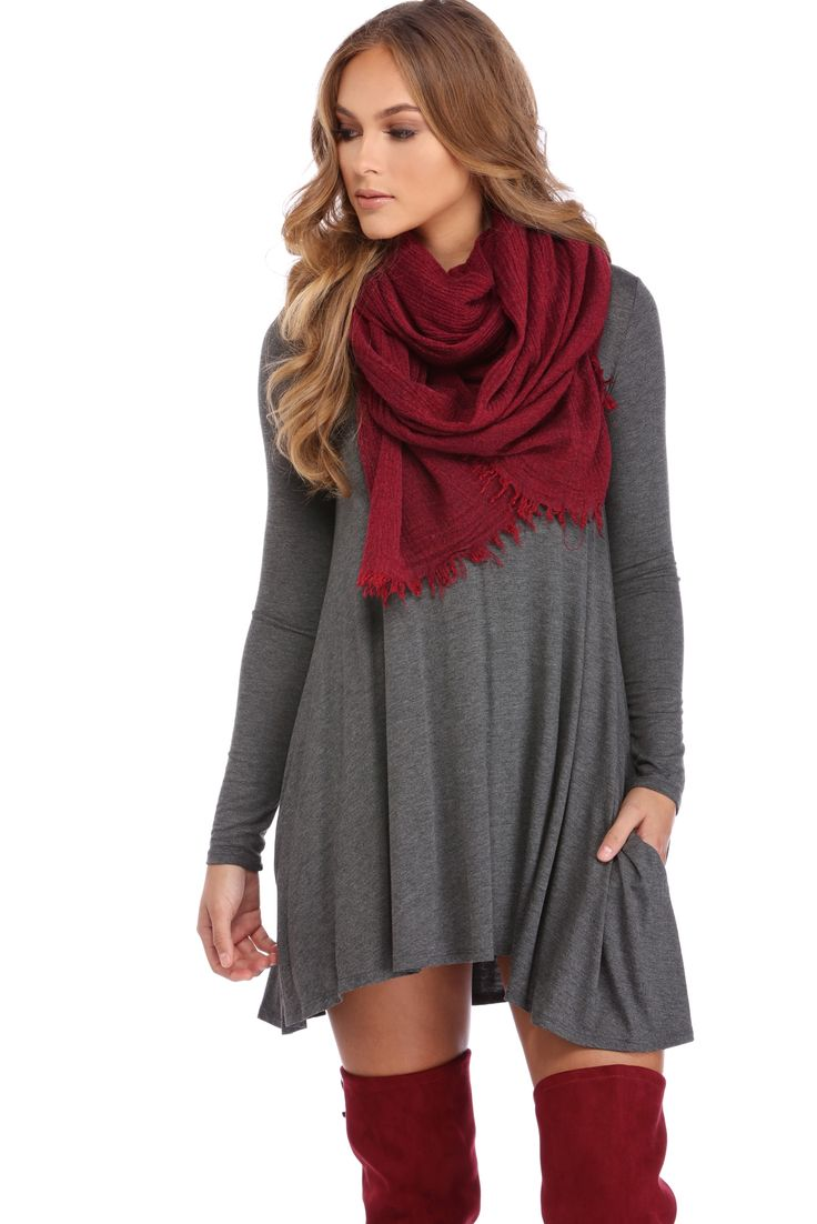 Charcoal Chilly Vibes Tunic