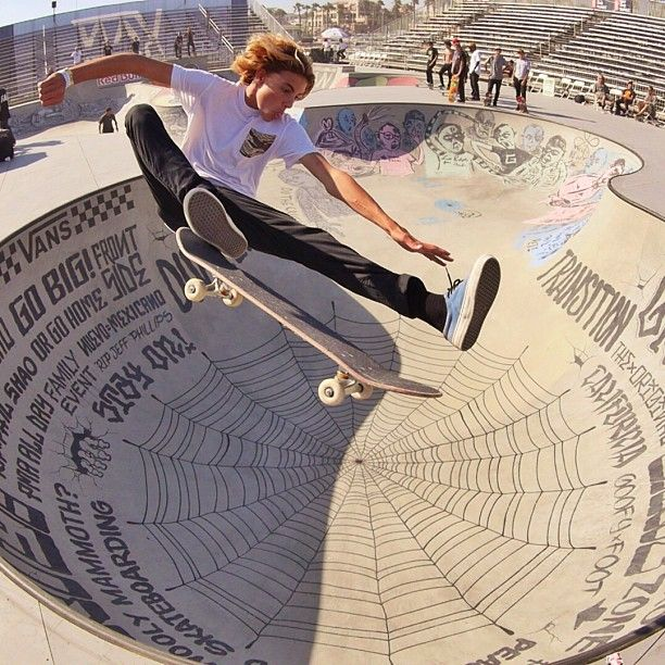 """@Brenda Myers Cook's photo: """"@Currencaples, fresh off the plane from the Copenhagen Pro in Denmark and straight into warm ups at the #vansusopen beach bowl   photo: @peterkinglajolla"""""""