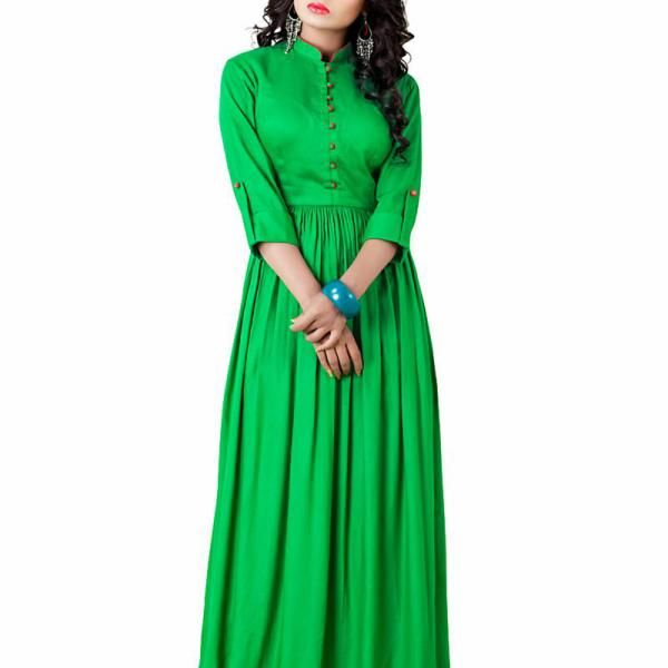 Lime Green Cotton Western Dress