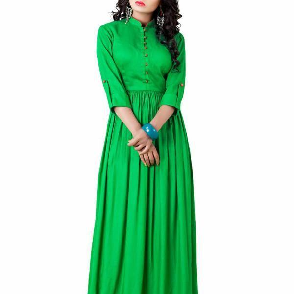 Lime Green Cotton Western Dress