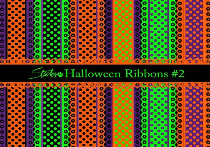 Halloween Ribbons Patterns #2