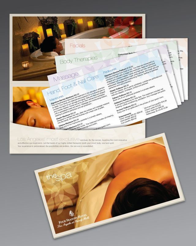 Image result for spa brochure with inserts