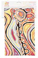 Warlukurlangu Teatowel Cotton - 47cm x 73cm Artist: Judy Watson (Mina Mina) Code: TT38 Price: $12.00 or 2 for $22.00