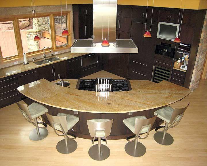 exceptional Curved Kitchen Island #9: 17 Best ideas about Curved Kitchen Island on Pinterest | Kitchen islands,  Kitchen layouts and Kitchen floor plans