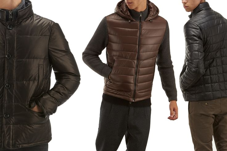 Men's short down #jackets #fw1415: from the technical sport jacket traditions, to the men's fashion #coats.