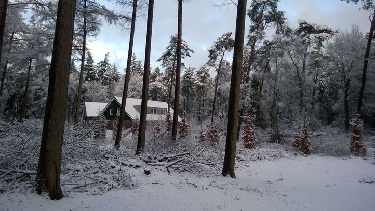 De Jorishoeve, groepsaccommodatie in Ommen, in de sneeuw. Prachtig.
