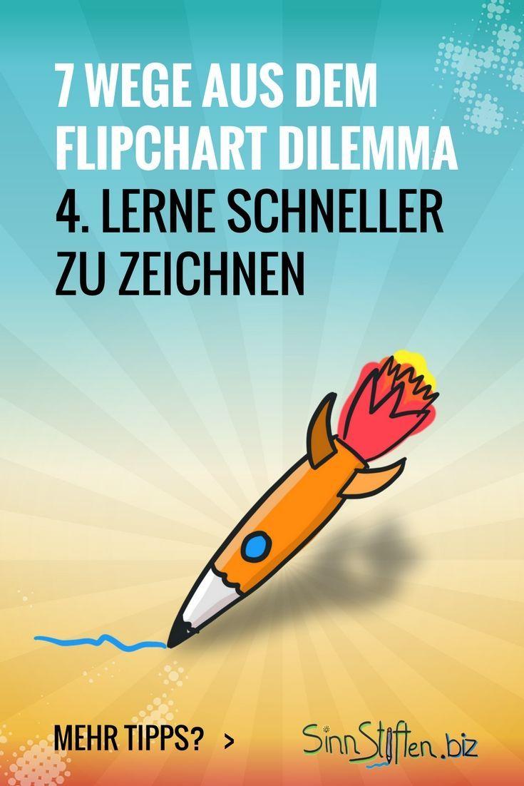 Bist du hin- und hergerissen zwischen deinem Publikum und dem Flipchart? Dann gibt es hier 7 Wege aus dem Flipchart Dilemma während deiner Präsentation. Du kannst zum Beispiel trainieren, um schneller zu zeichnen.