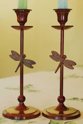 Dragonfly candle holders - I have these very same candle holders!!  :)