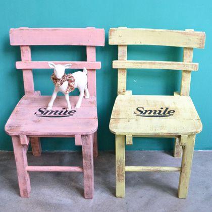 silla vintage para nios