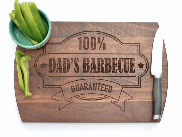 Gift for Dad, Custom Gift for Dad, Birthday Gift for Dad, BBQ, Personalized Gift for Dad, Dad's Kitchen, Dad's BBQ, Custom Cutting Board…