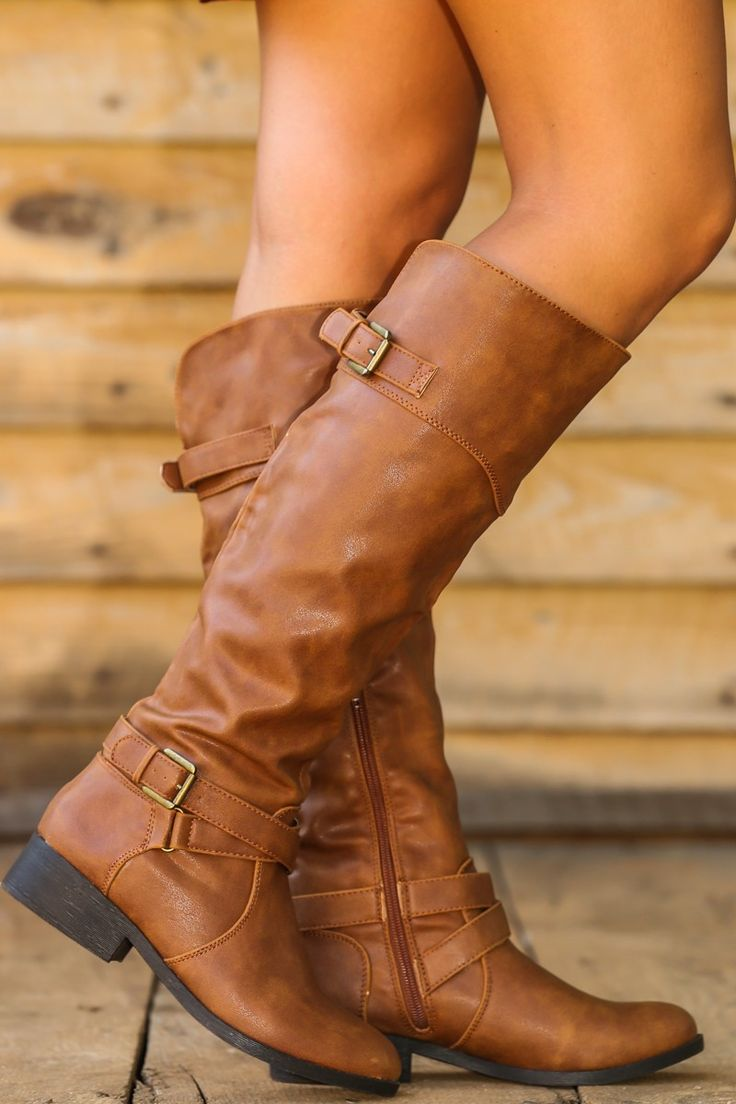 Walk The Line Boots-Cognac - Knee High Boots - All Boots - All Shoes | The Red Dress Boutique