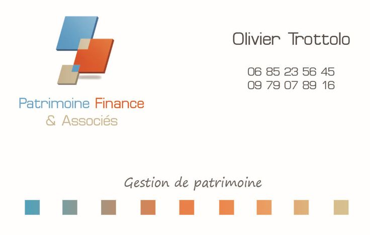 Carte de Visite PATRIMOINE FINANCE