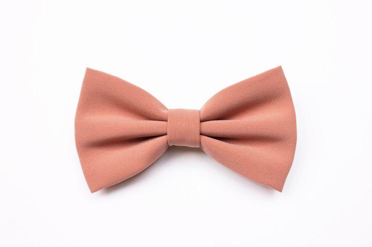Papillon rosa polvere,rosa antico,papillon per uomo,cravatta per matrimonio primavera estate 2016,papillon cerimonia,colori tendenza sposi di ScoccaPapillon su Etsy