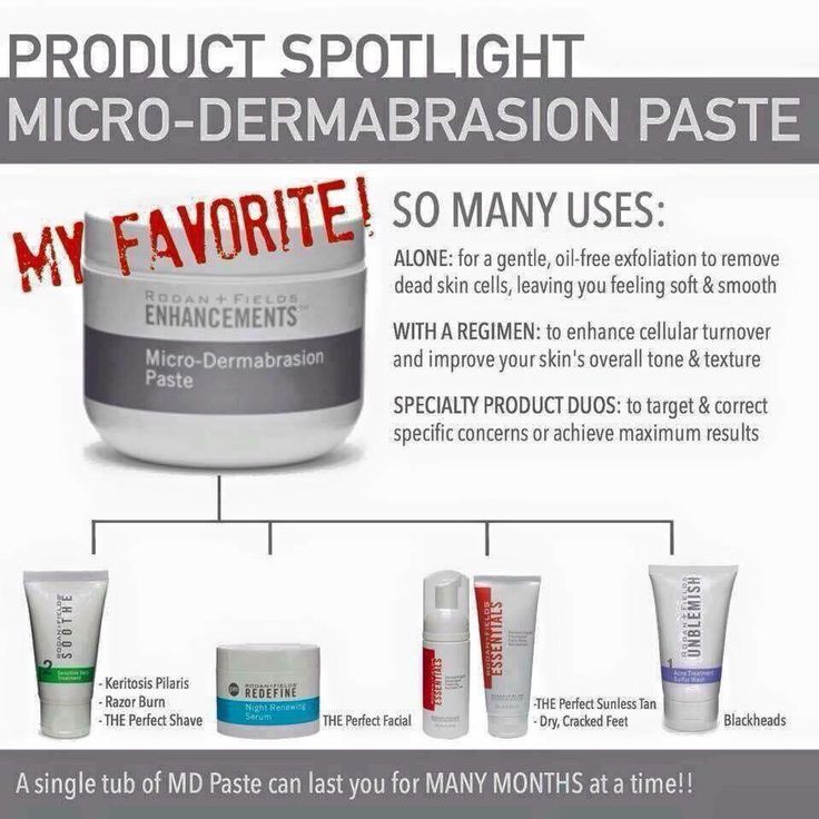 Rodan and Fields micro-dermabrasion paste. Great for KP, the perfect shave, blackheads, the perfect sunless tan, dry cracked feet and the perfect facial!