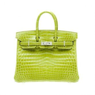 Hermes Birkin Bag 25 Vert Anis/Anis Green Niloticus Crocodile Sk