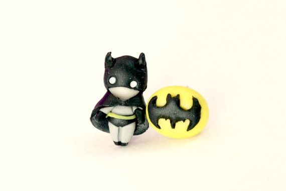 Batman stud earrings inspired. by CandyDesignCrea on Etsy, €12.00