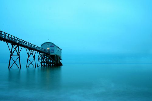 Selsey Lifeboat Station at Night