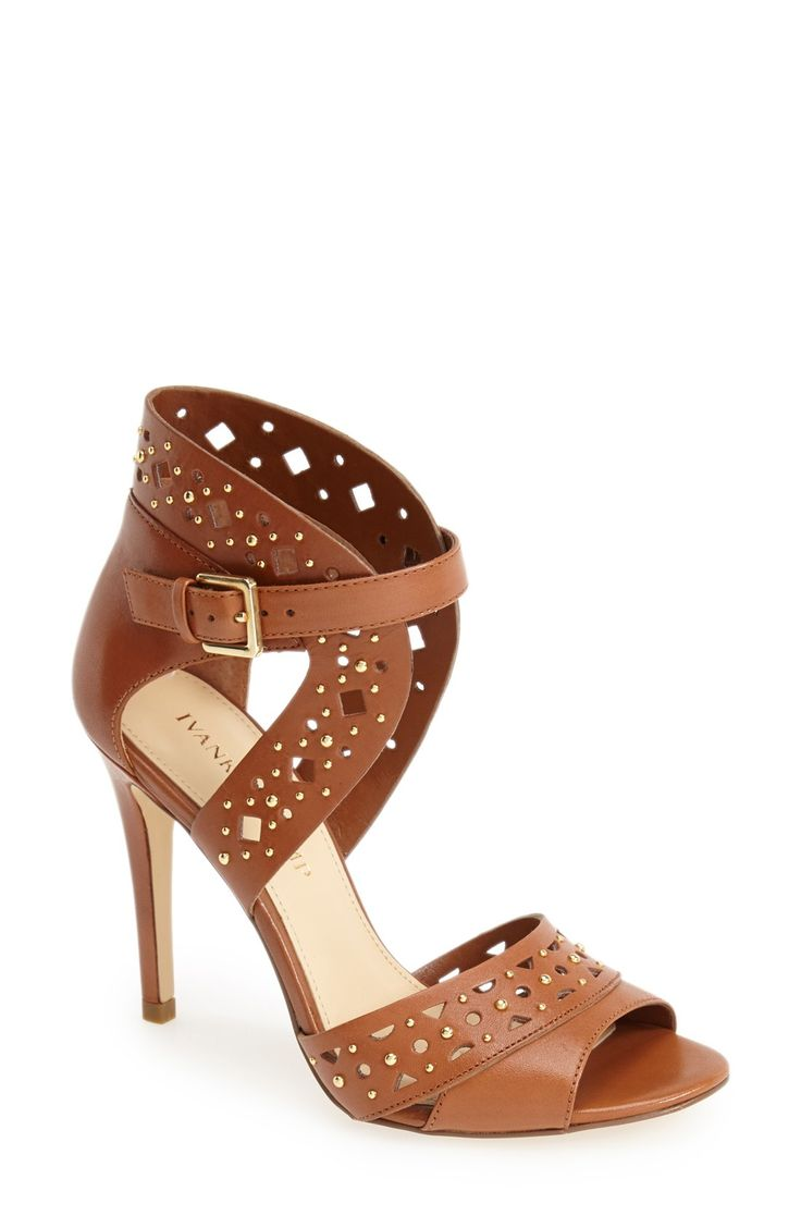 A cut-out brown sandal is a wardrobe staple this season.