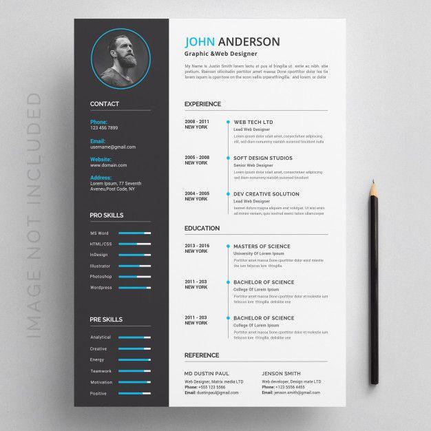 Modern Resume Modern Resume Free Resume Template Word Resume Design Creative