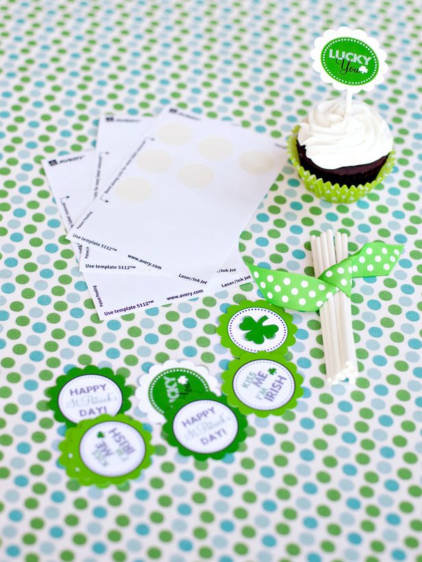 free printable st. patty's day cupcake toppers