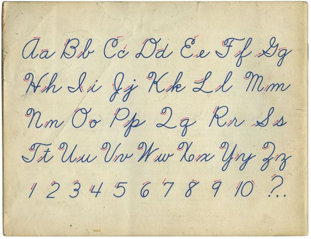 "Learning ""Cursive"" writing!  I am pretty sure that this is the exact style of cursive that I learned...OMG does anyone know what this is today?? seriously."
