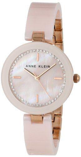 Anne Klein Women's Bangle Watch with Swarovski Crystals - http://www.womansindex.com/anne-klein-womens-bangle-watch-with-swarovski-crystals/