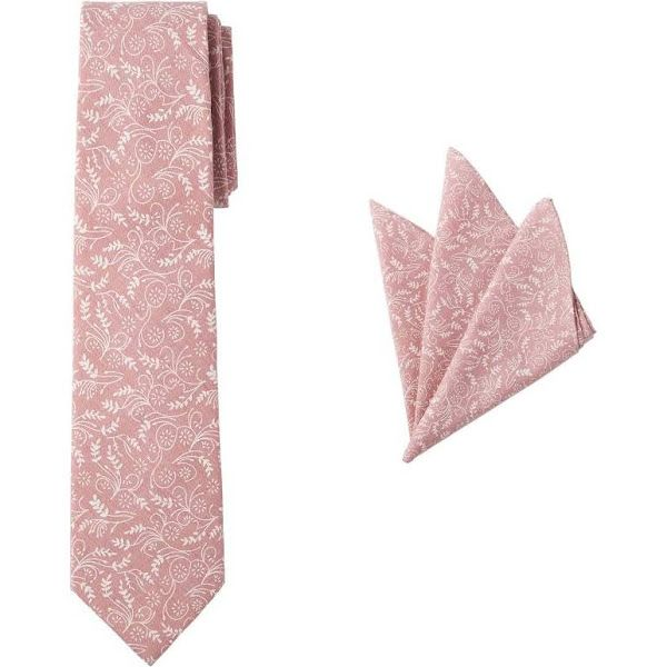 Jacob Alexander Matching Men/'s Floral Pre-Tied Bow Tie and Hanky Set