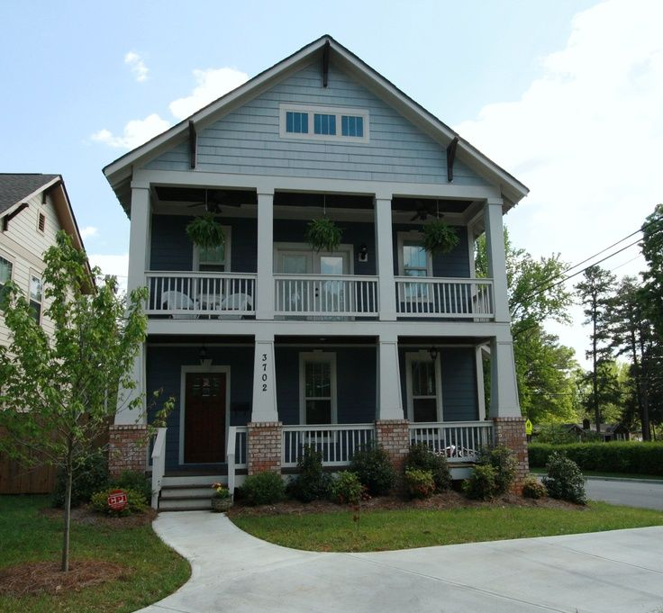 47e25e4d57461b4ab8f00ff084051454 craftsman porch craftsman homes two story craftsman porches found on charlottencrealestatesource,House Plans With Double Front Porches